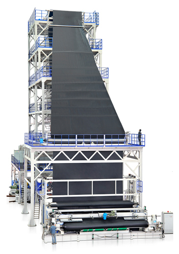 MT MULTI-LAYER CO-EXTRUSION (SMOOTH/ROUGH SURFACE) GEOMEMBRANE BLOWING MACHINE